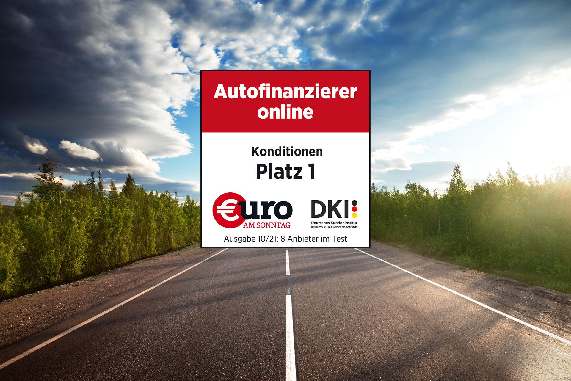 Platz 1 für unsere Autokredit-Konditionen