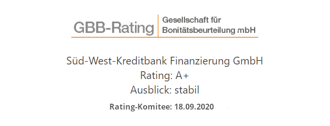 GBB-Rating der SWK Bank: A+ stabil