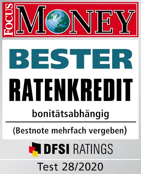 Bester Ratenkredit im Test bei Focus Money